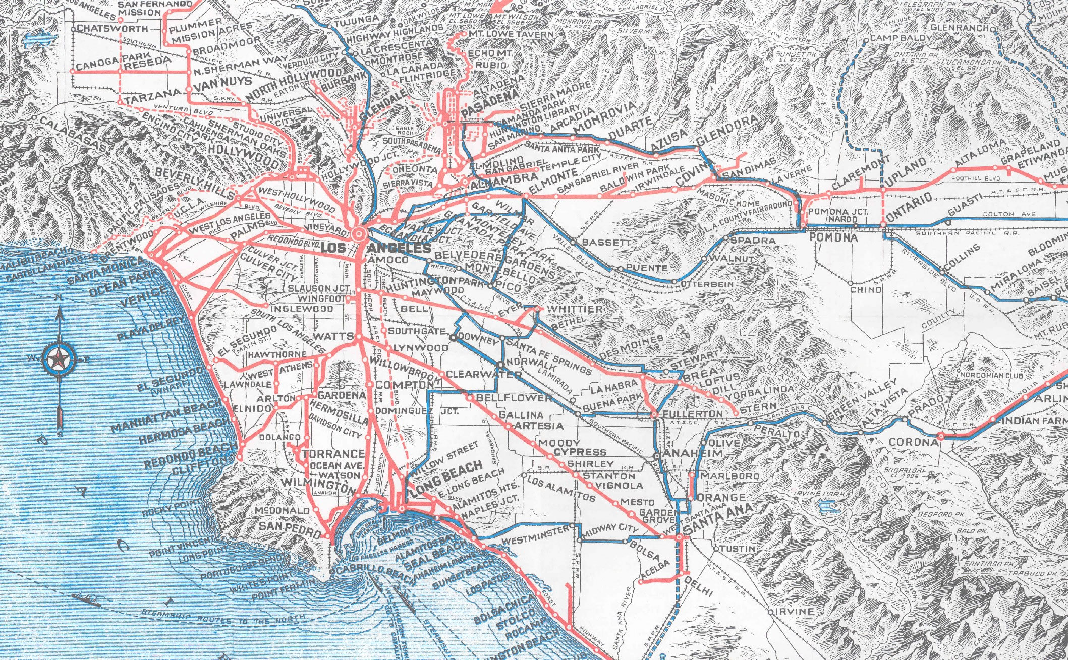 La Subway Map Red Line.The Harbor Subdivision And South La La Thrives