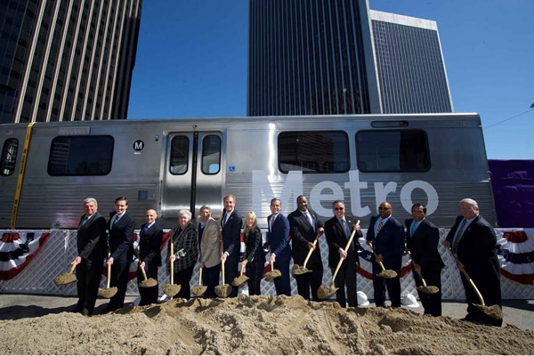 Los Angeles County Metropolitan Transportation Authority (Metro) joined local, state and federal officials today to break ground on Section 2 of the Metro Purple Line Extension Project.