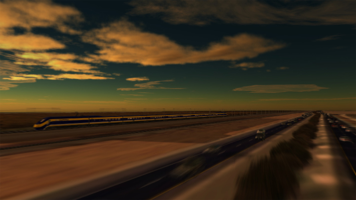 <p>Image of High-Speed Train running along UPRR lines through Central California.</p>