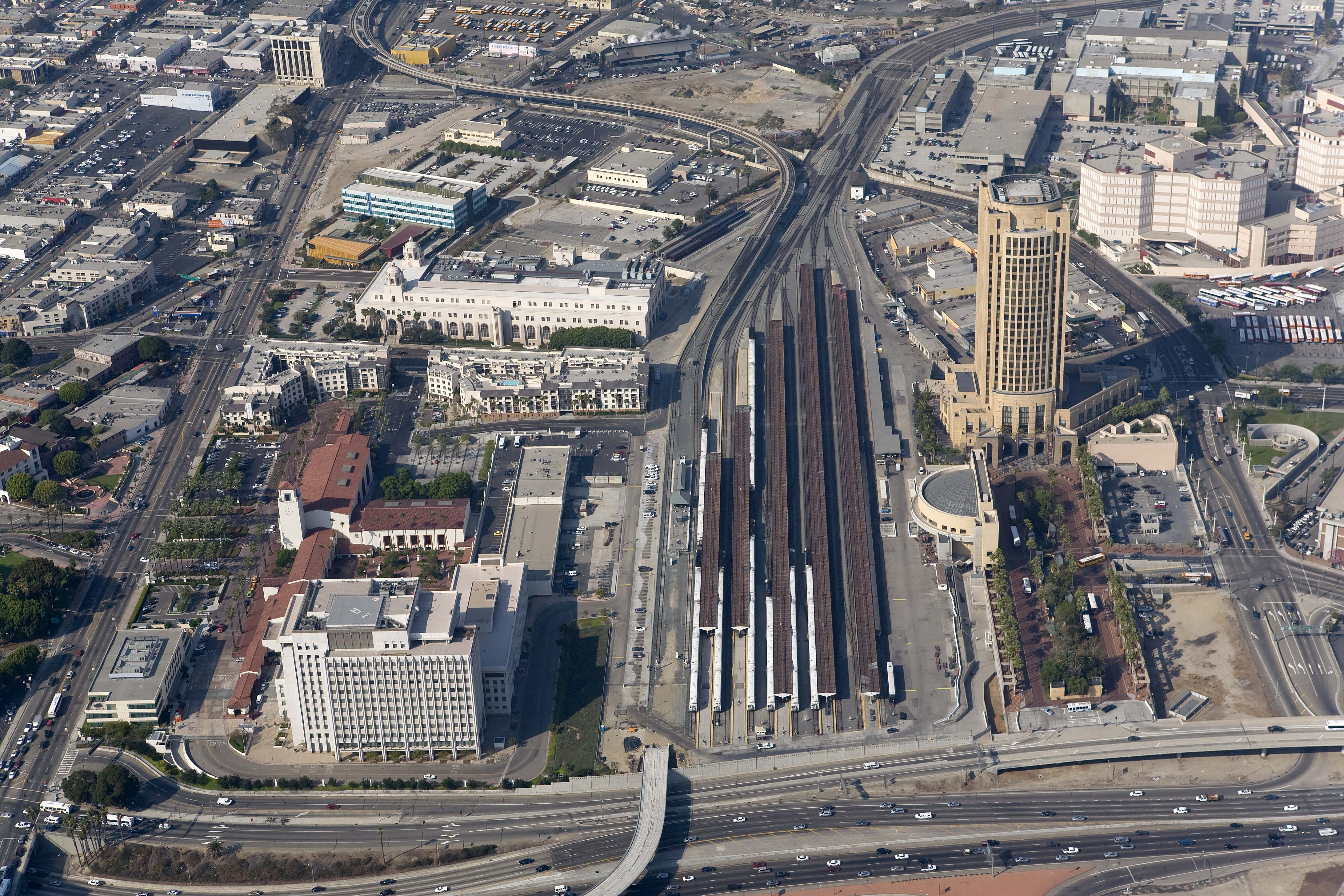 <p>Aerial of Union Station</p>