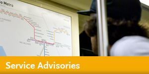 Service Changes - Service Advisories