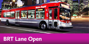 Wilshire BRT Lane Open