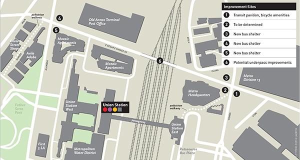 Map of Cesar E Chavez Av Bus Stop Improvement Project