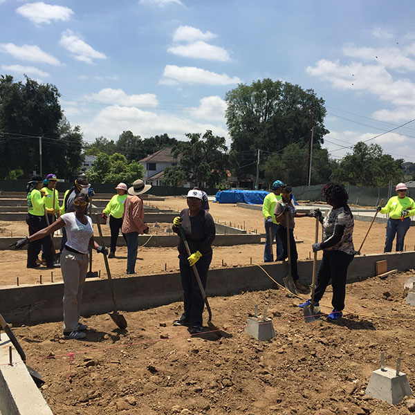 WBMLA group working on construction project