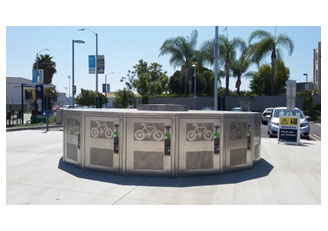 photo of Metro bicycle lockers