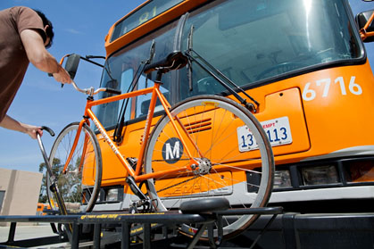 photo of Bike on Metro Bus