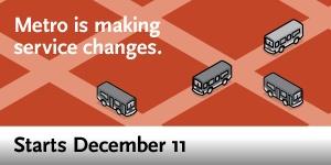 Service Changes - December