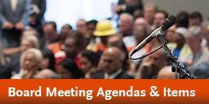 Metro Board Meeting Agendas & Items