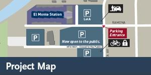 El Monte Station - Parking Map Updated