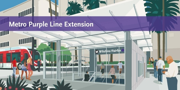 Metro Purple Line Subway Extension is now under construction.