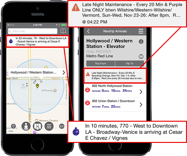 System Alerts displayed on iPhones.