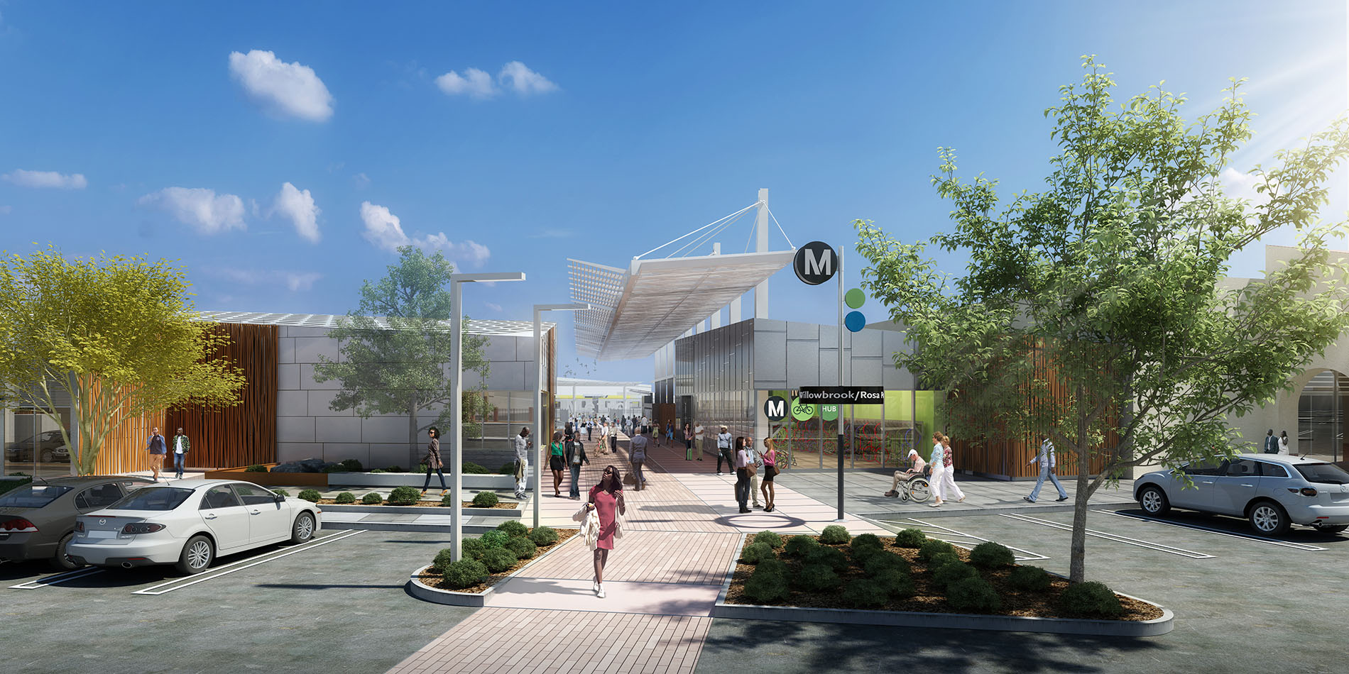 A Gateway into Willowbrook: This revitalized regional facility will be more efficient and intuitive, and will provide users with superior access to local and regional destinations and amenities.