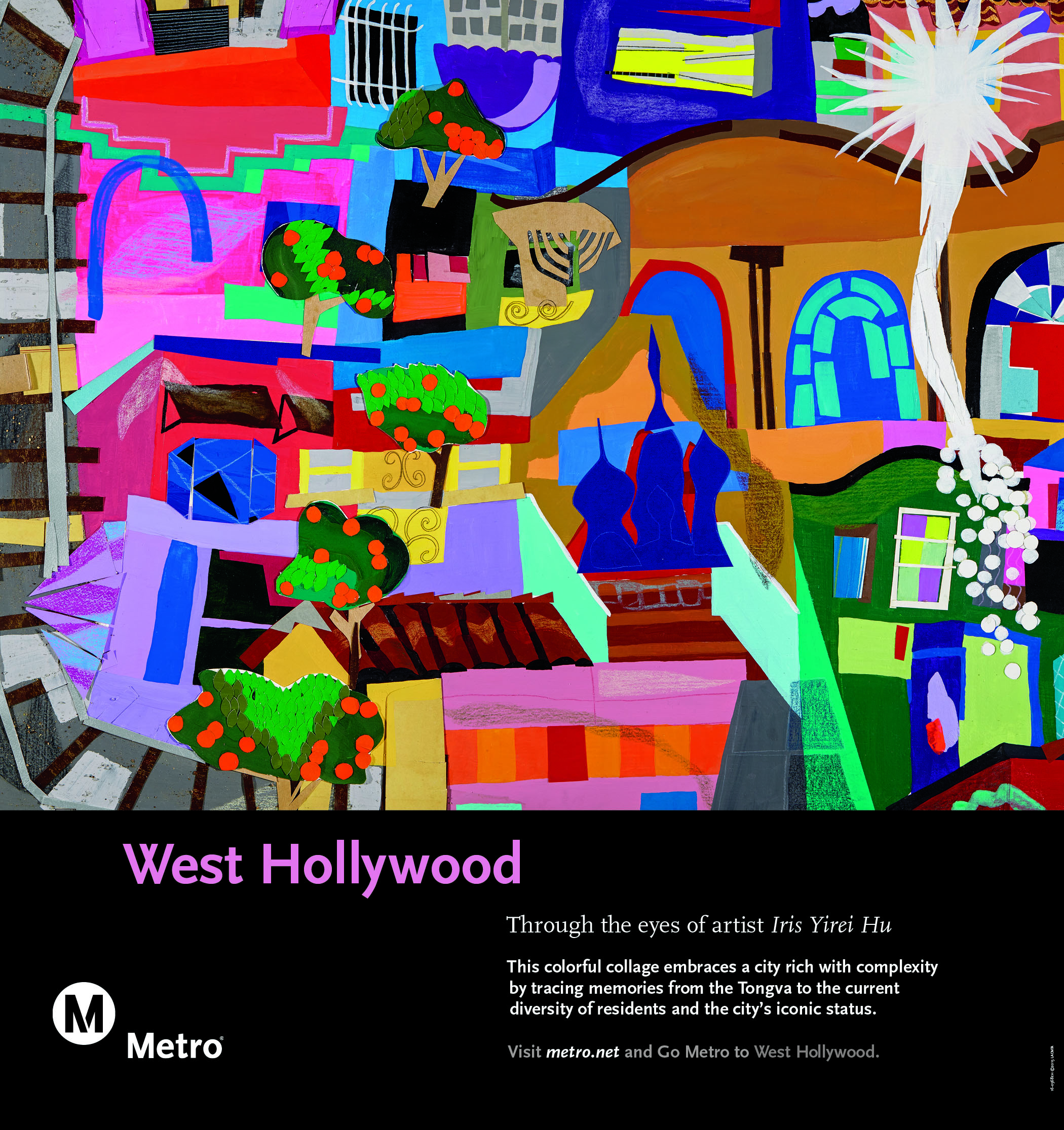 West Hollywood Rail Poster