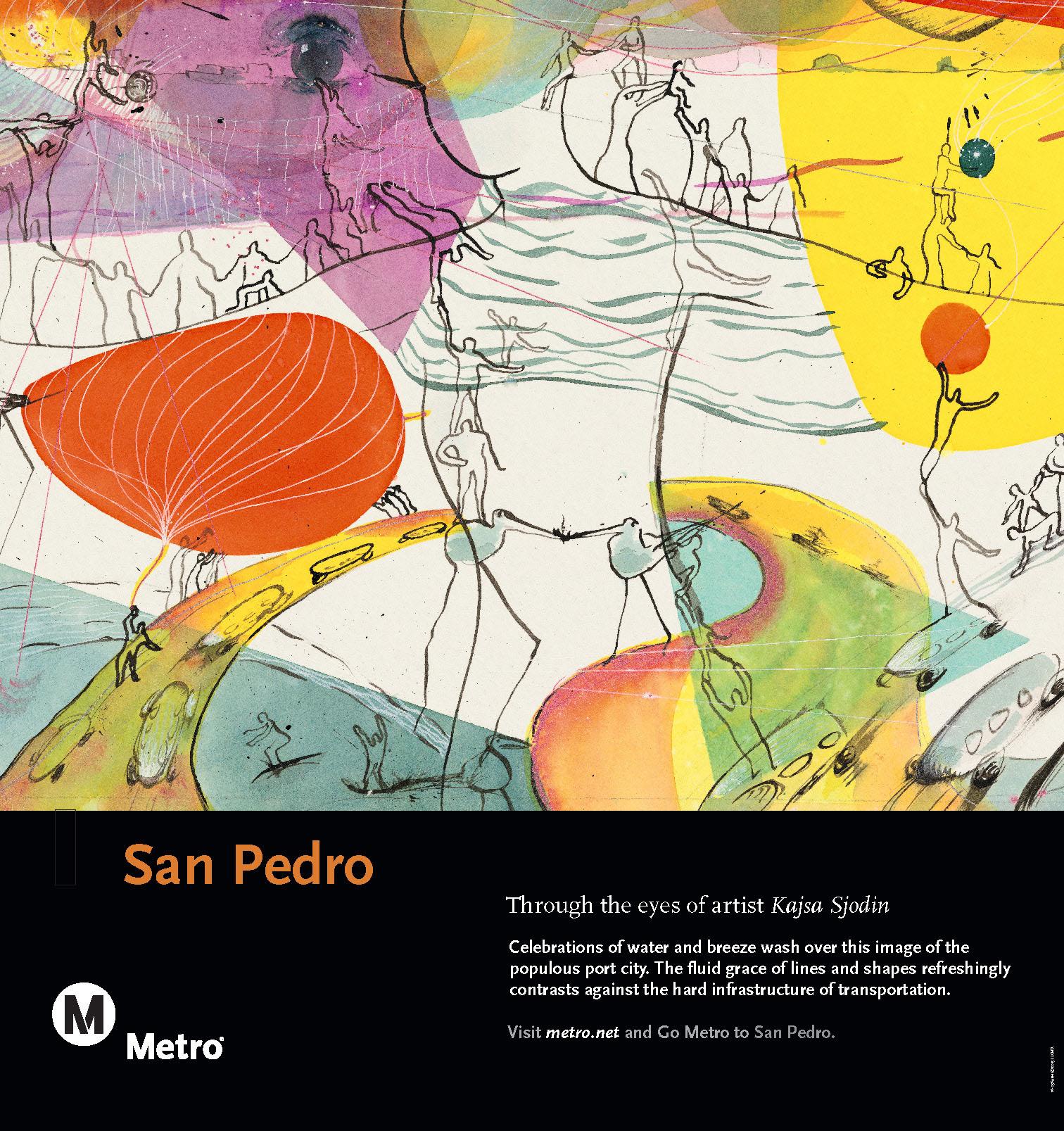 San Pedro Rail Poster