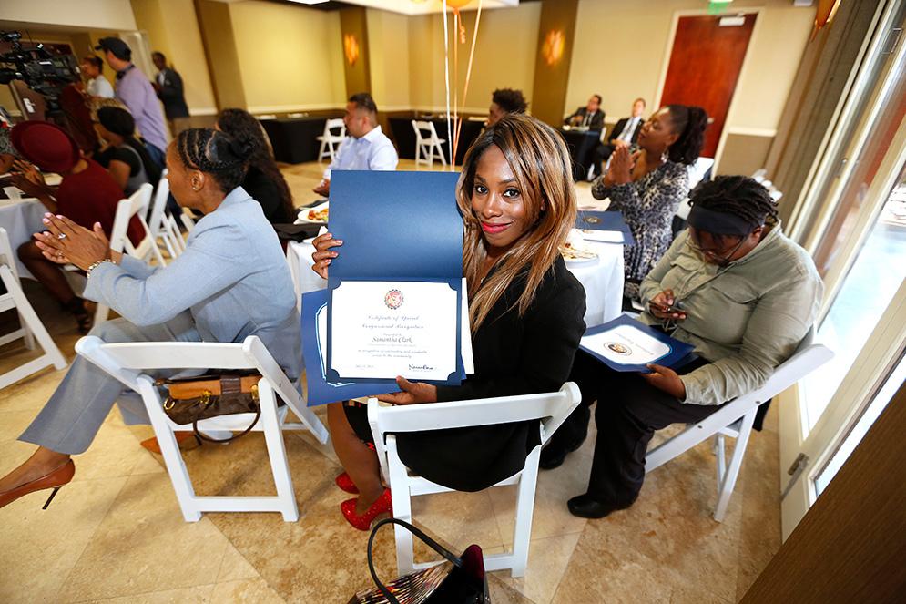 1st WBMLA Pre-Apprenticeship Graduation 2016 - Displaying diploma