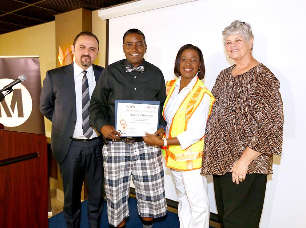 1st WBMLA Pre-Apprenticeship Graduation 2016 - Presenting diploma
