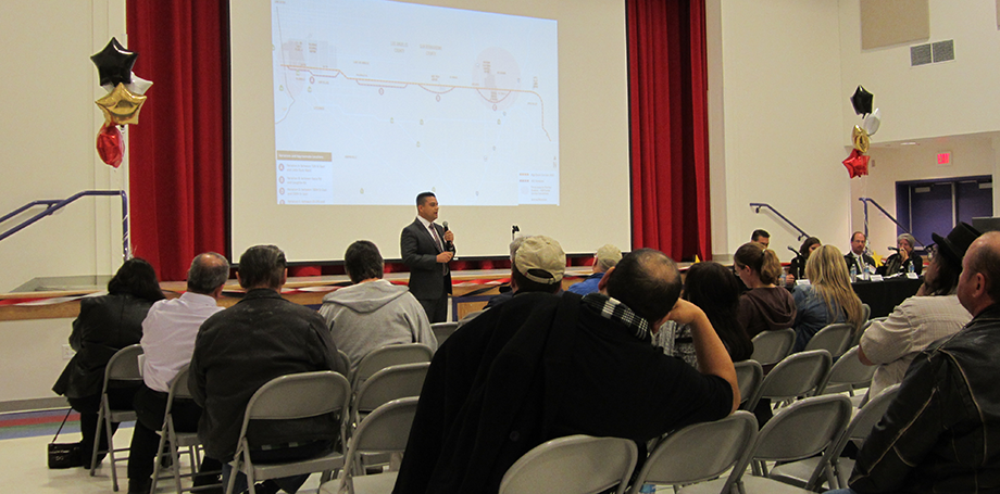 Metro's HDC Project Manager, Robert Machuca, providing project overview during HDC project presentation.