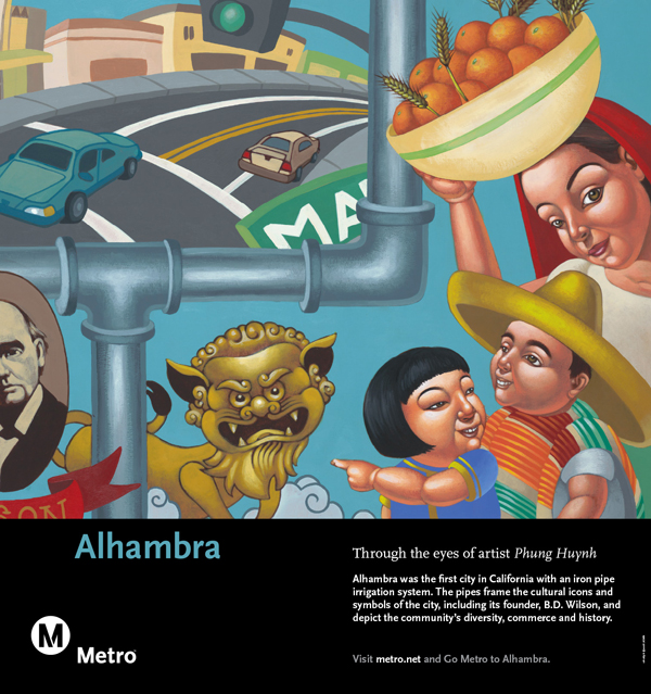 Alhambra Railcard Poster