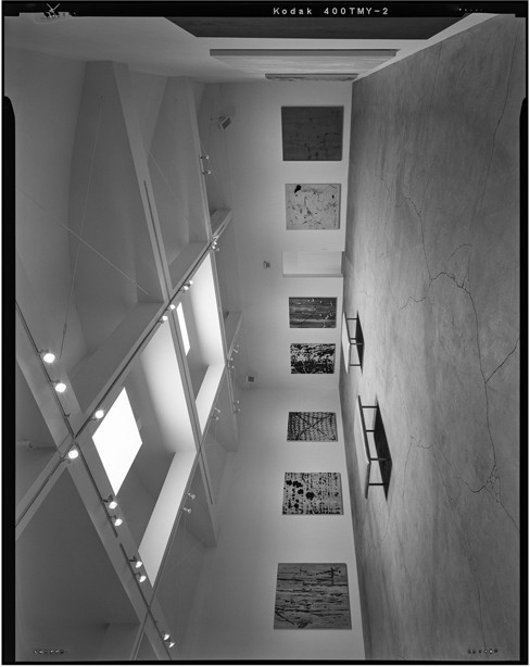 <p>Interior oblique overview of main gallery volume in center of building without scale. Camera height 5&prime;, facing north-northwest.</p>