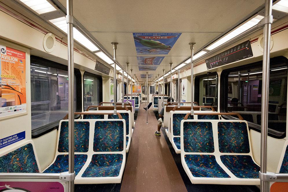 Metro subway car interior