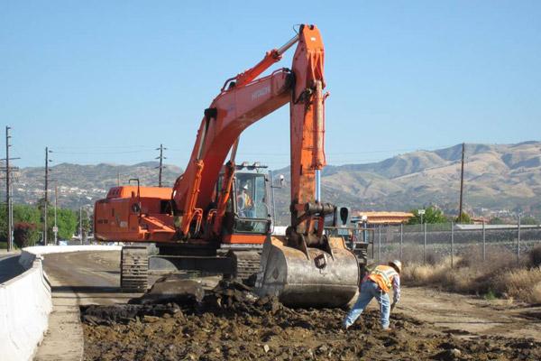 <p>Demolition of asphalt on Canoga Av</p>