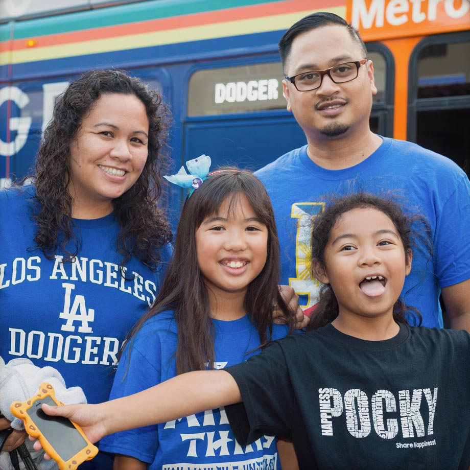 <p>Fans Go Metro to Dodger Stadium</p>