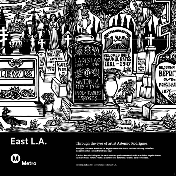East Los Angeles Railcard Poster
