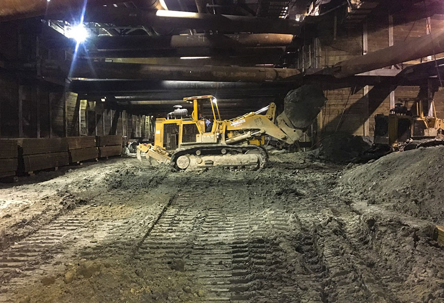Excavation progress at Wilshire-La Cienega (January 2019)