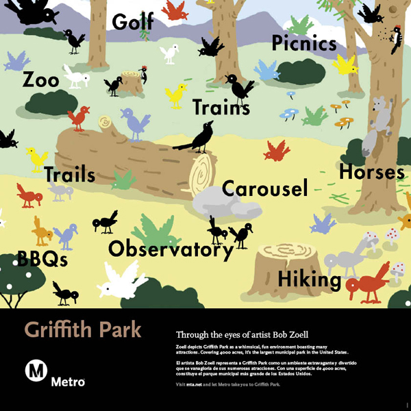 Griffith Park Railcard Poster