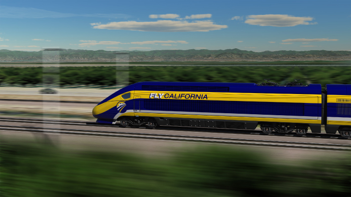 <p>Conceptual view of High-Speed Train running along BNSF lines through Central California.</p>