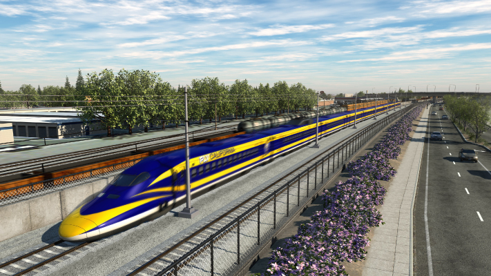 <p>Visualization of High-Speed Train passing through a grade separation at Shaw Avenue in Fresno, California.</p>