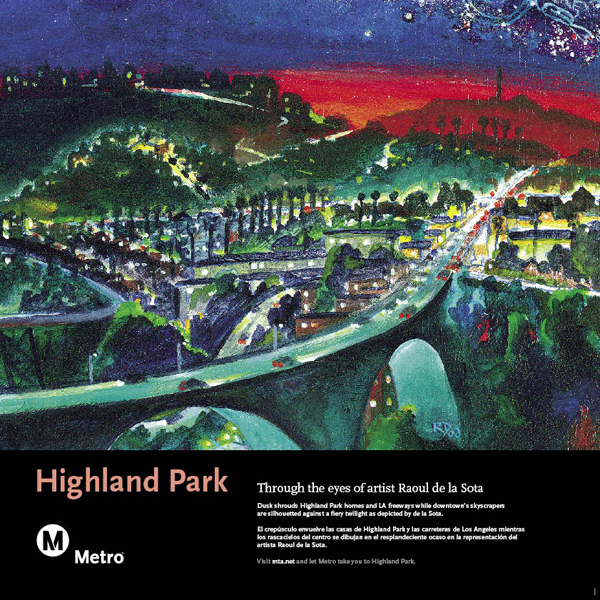 Highland Park Railcard Poster