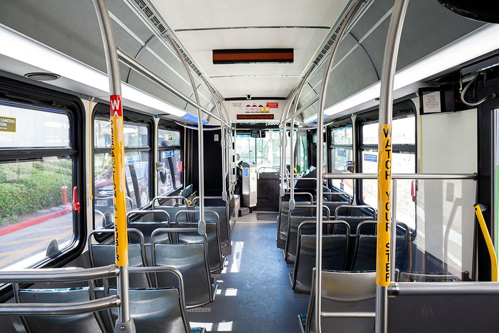 Metro bus interior