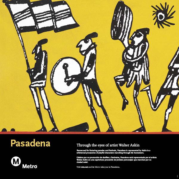 Pasadena Railcard Poster