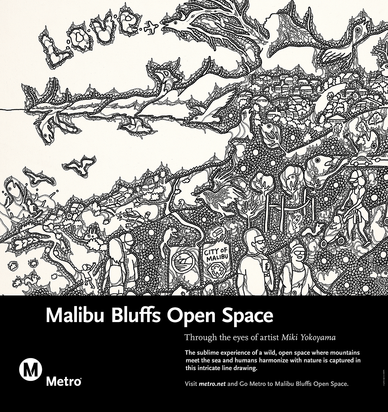<p>Malibu Bluffs Open Space Rail Poster</p>