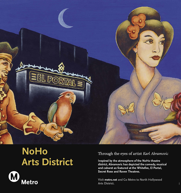 Noho Arts Disctrict Railcard Poster