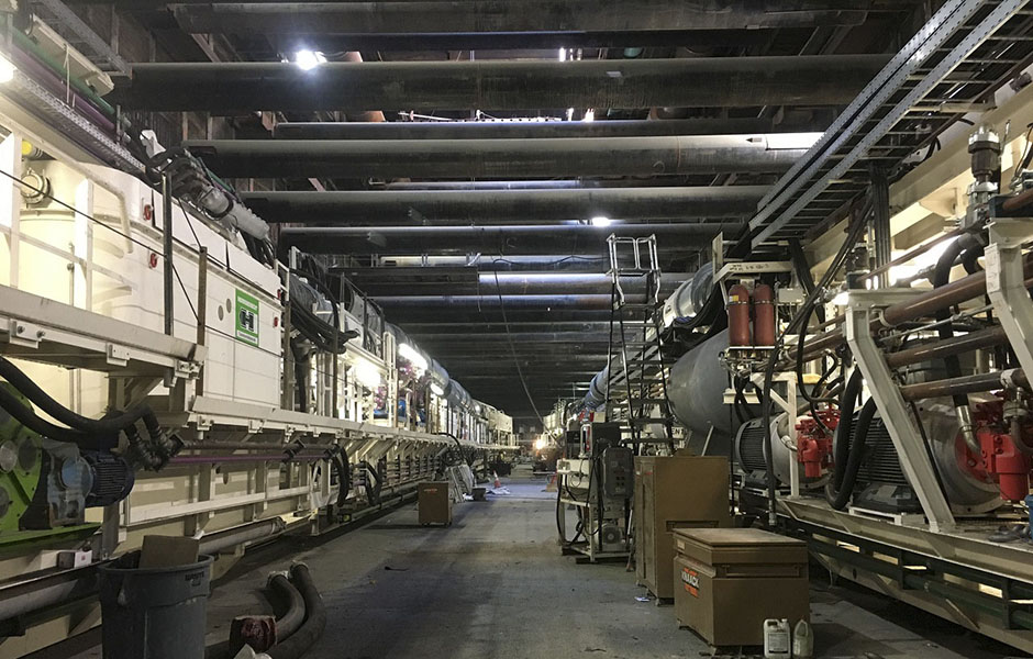 Preparing tunnel boring machines to launch east to Wilshire-Western (Sept 2018)