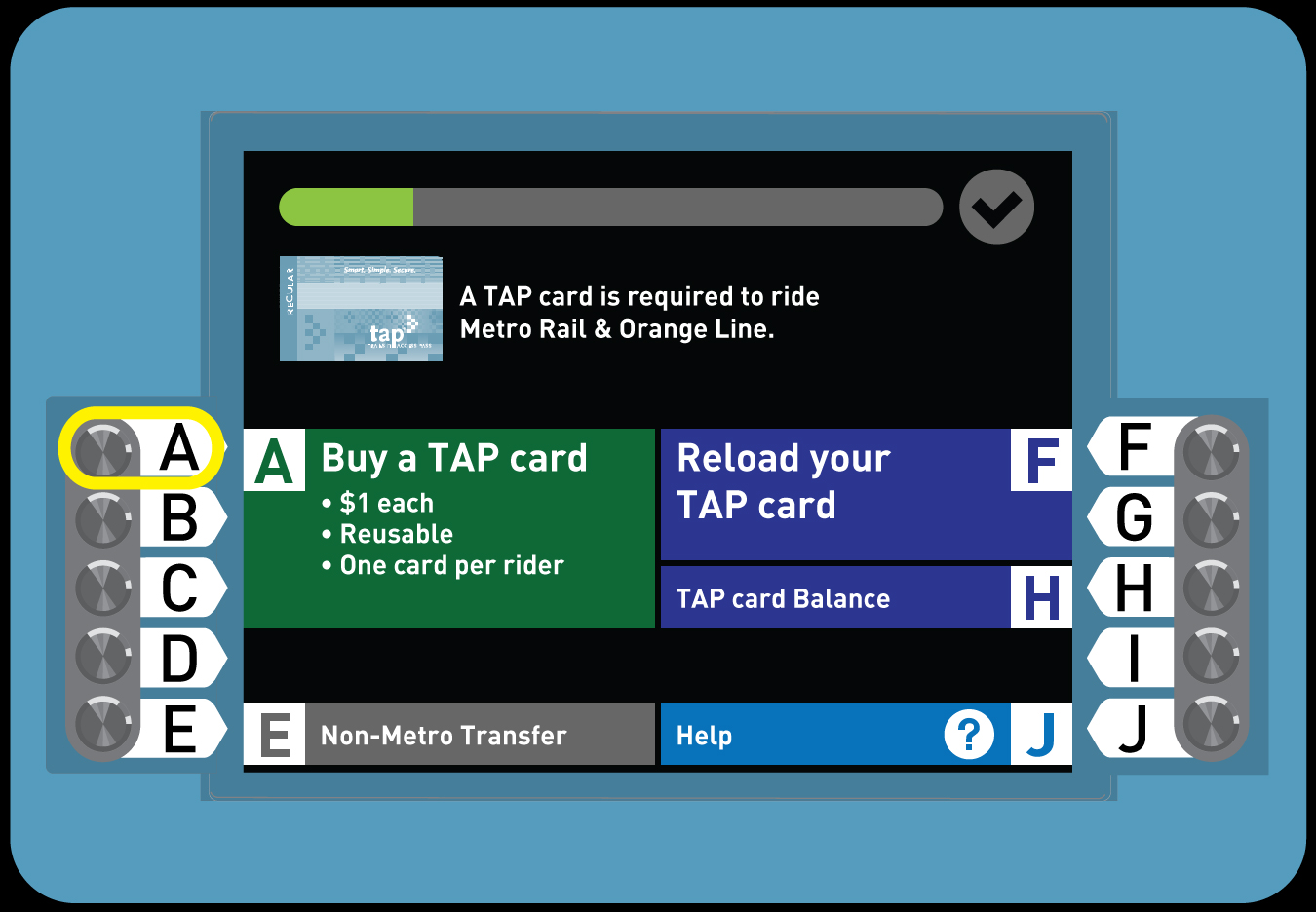 Buy a Regular TAP card with a Day Pass