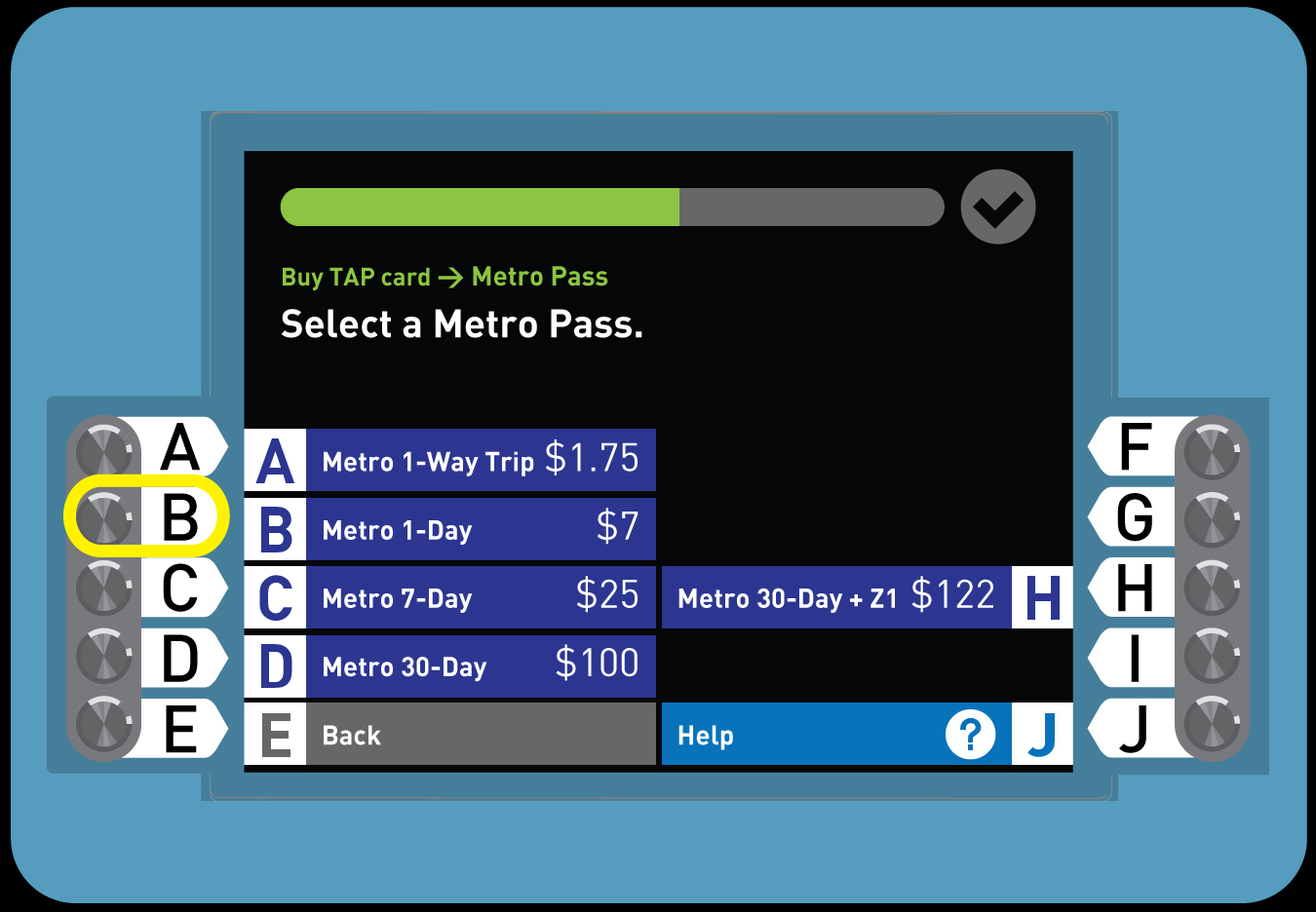 <p>4. Buy a Regular TAP card with a Day Pass</p>