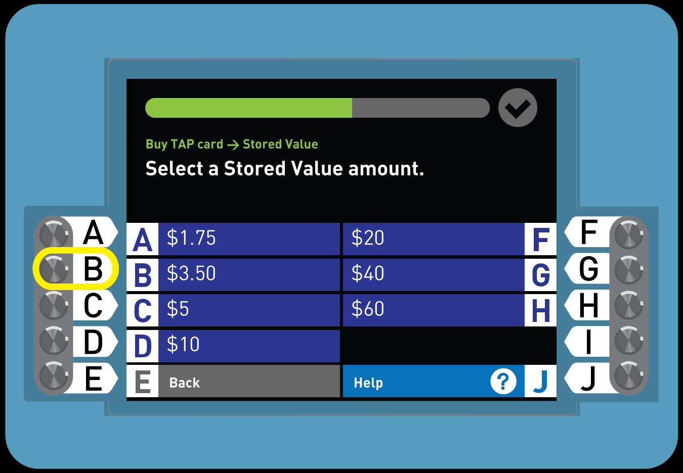 <p>4. Buy a Regular TAP card with Stored Value</p>