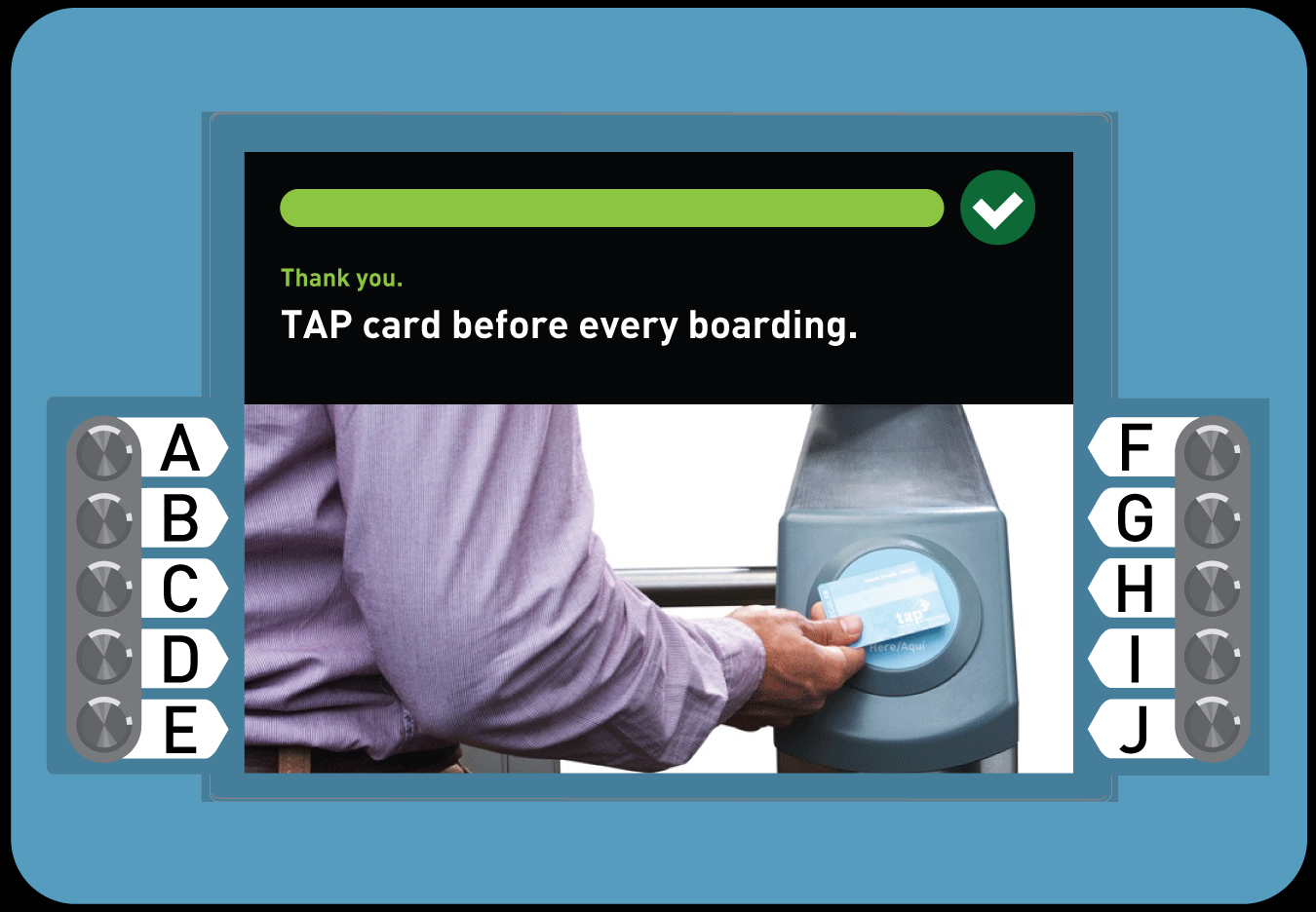 <p>8. Buy a Regular TAP card with Stored Value</p>