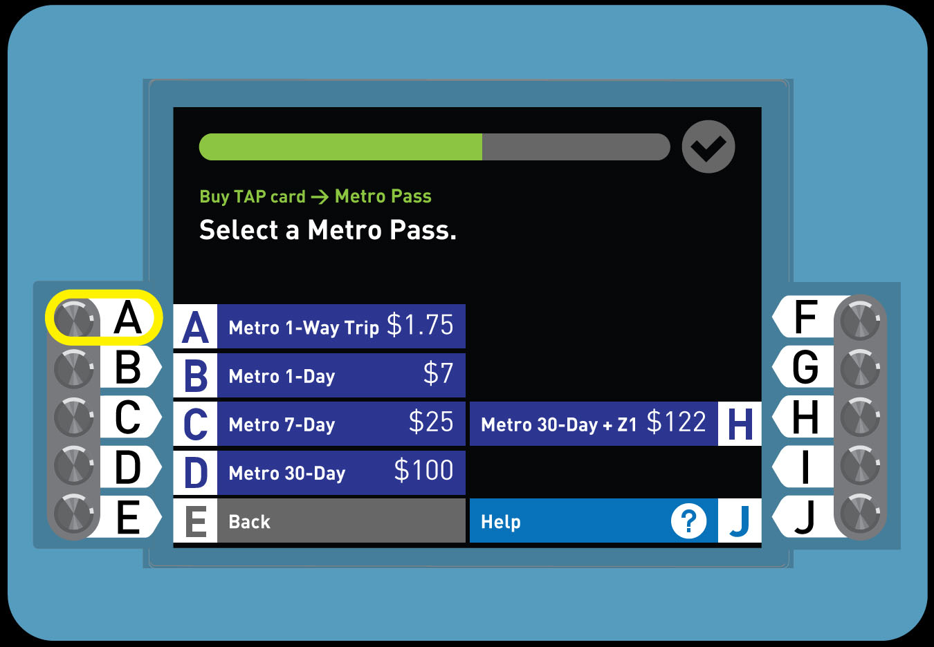 4. Buy a Regular TAP card with Full Fare 1-Way Trip