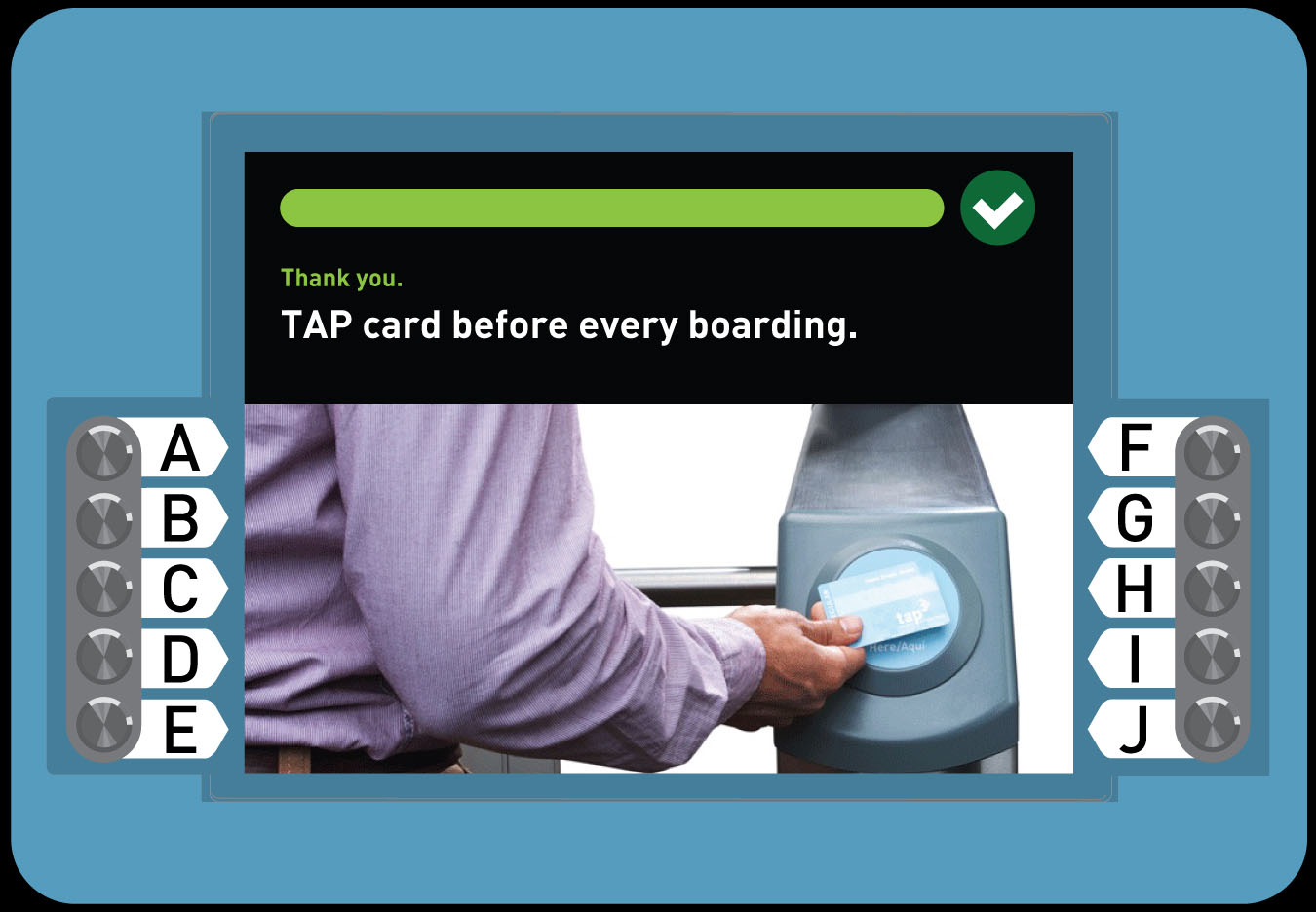 8. Buy a Regular TAP card with Full Fare 1-Way Trip