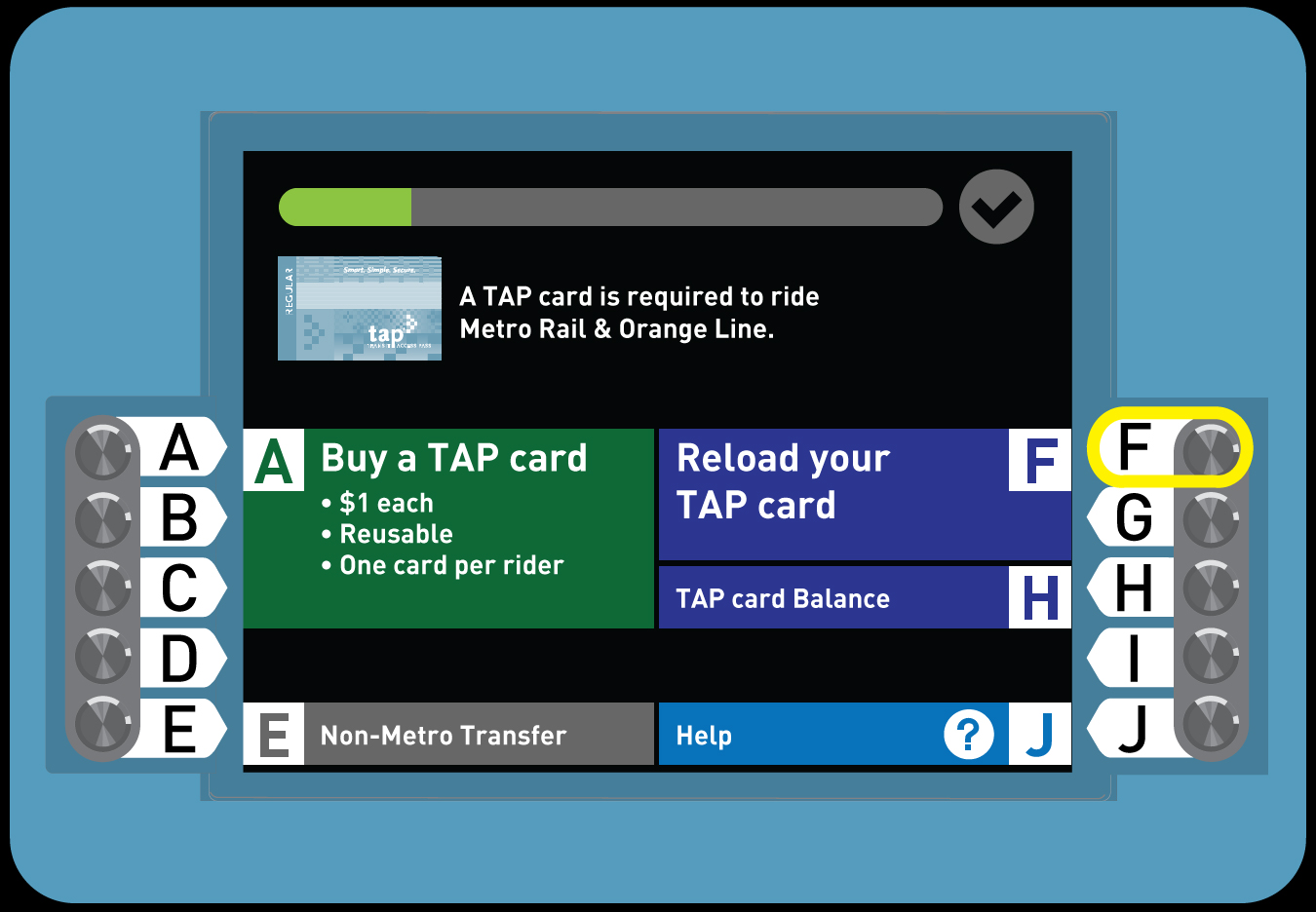 2. How to Load Senior TAP card with 1-Way Fare