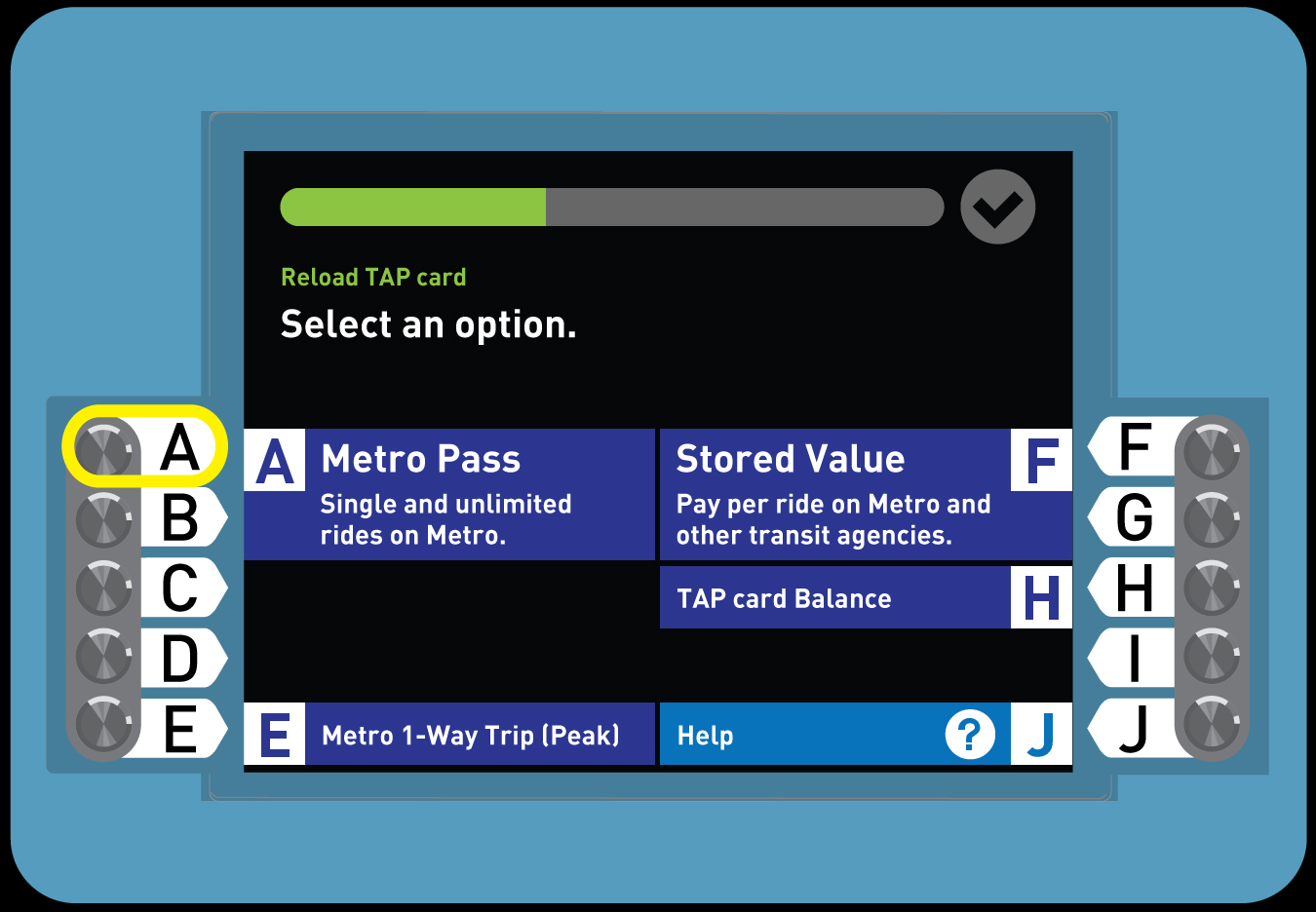4. How to Load Senior TAP card with 1-Way Fare