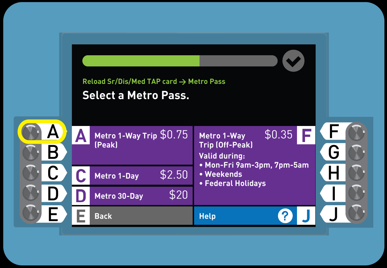 5. How to Load Senior TAP card with 1-Way Fare