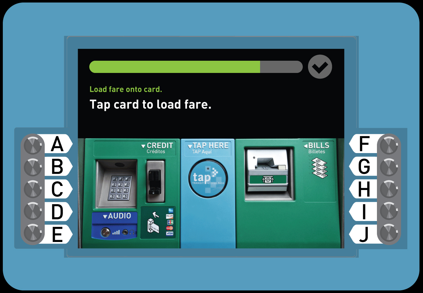 8. How to Load Senior TAP card with 1-Way Fare