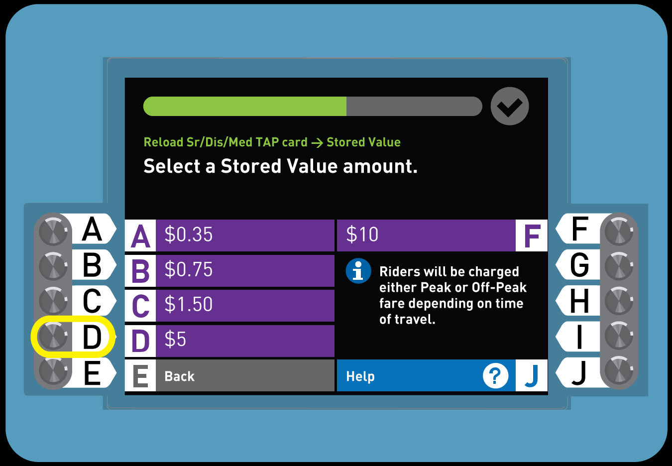 5. Buy a Senior TAP card with Stored Value