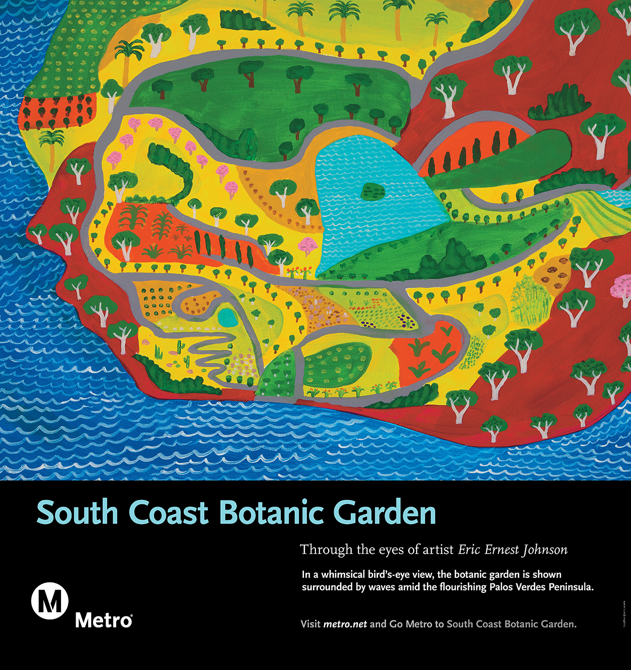 South Coast Botanic Garden Rail Poster