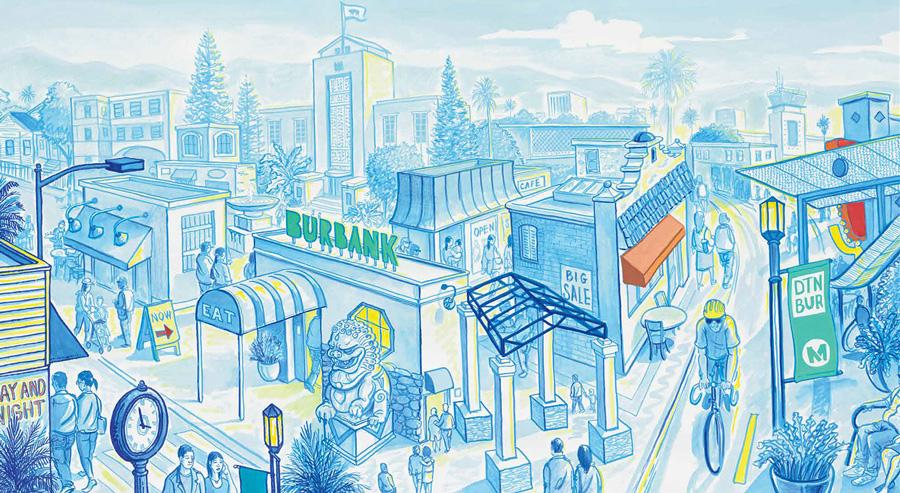 "Sandow Birk, ""Downtown Burbank"""